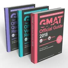 NEW GMAT Official Guide Books 2018 +Online Students Learning Education Textbooks