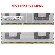 For Samsung 64GB 8RX4 PC3-12800L DDR3-1600Mhz ECC Registered LRDIMM Memory RAM