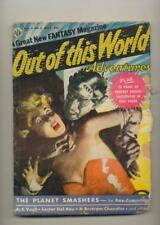 Out of this World Adventures March 1957 Vintage Pulp Magazine Very Good Minus