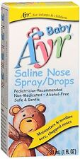 Ayr Baby Saline Nose Spray/Drops 30 mL (Pack of 2)