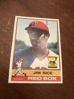 1976 Topps Jim Rice #340 Baseball Card 2nd Year Card Boston Red Sox