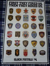 "GLOCK Law Enforcement Patch Endorsement 34"" x 22"" Full Size Poster Dated 1995"