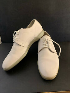 White Off White Bucks Oxford  Shoes Bloomingdales Made By Roots Canada size 7D