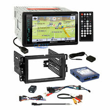 Soundstream DVD GPS Bluetooth Stereo Dash Kit OnStar Bose SWC Harness for GM