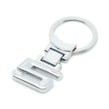 Chrome Metal Sedan 5 Keychain Keyring Key Chain Ring For 5 Series 530i 528i 535i