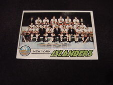 BEAUTIFUL 1977-78 Topps #81 New York Isalanders Team Card/Checklist, HI GRADE!