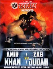 AMIR KHAN vs. ZAB JUDAH / Original Fight Sponsors Boxing Fight Poster