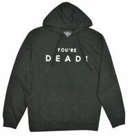 NWT OFFICIAL FLYING LOTUS 'YOU'RE DEAD' TOUR MEN'S PULLOVER HOODIE BLACK MEDIUM
