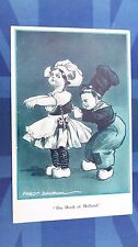 F Spurgin Comic Postcard 1910s CORSET GIRDLE Netherlands Clogs HOOK OF HOLLAND
