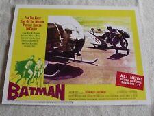 "1966 ""Batman"" Batcopter Lobby Card #5 11 X 14 Adam West"