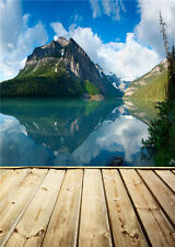 Mountains Photo Backdrops Vinyl Wooden Floor Photography Background Baby 5x7ft