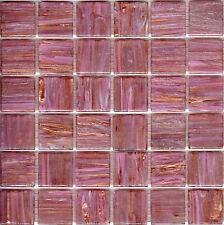 25pcs GM11 Pink Bisazza Le Gemme Italian Glass Mosaic Tiles 2cm x 2cm