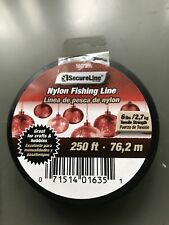 New Secure Line 6 Lb Test Nylon Clear Line, Strong Smooth Fishing Line 250 Ft.