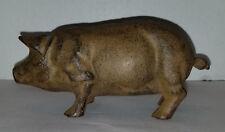 Vintage Cast Iron Pig Still Bank