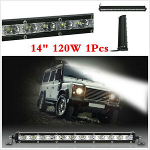 Waterproof 120W Spot LED Work Light Bar Car Truck Boat Driving Fog Lamp SUV 1x