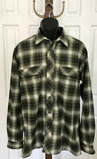 EXOFFICIO Green Plaid Long-sleeve Patch Pocket  Shirt - Size Large