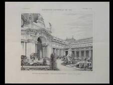 PARIS, PETIT PALAIS - 1900 - PLANCHE ARCHITECTURE -CHARLES GIRAULT, PORTE JARDIN