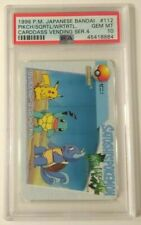1998 Pokemon Bandai Carddass Series 4 #112 Pikachu Wartortle Squirtle PSA 10