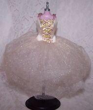 DRESS Barbie Ballet Sparkle Pink Tutu Ballerina Ribbon Straps Glitter Muse