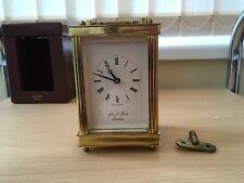 Lionel Peck Carriage Clock And Leather Case