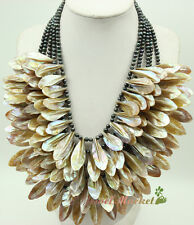 N15060805 white left shell FW pearl necklace