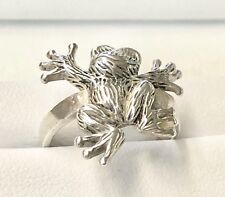 Frog Ring Size 6 in Sterling Silver