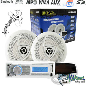 New Marine Audio Pack Boat Stereo System Bluetooth AM/FM Media Player Quality