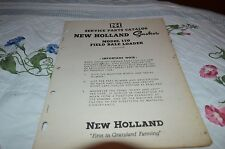 New Holland 170 Smoker Elevator Dealer's Parts Book DCPA5