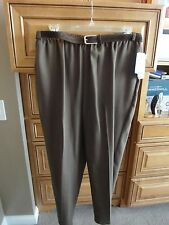 Ship n Shore Taupe Slacks Dress Pants, incl Matching Suede Belt 20W NEW w/TAGS!!