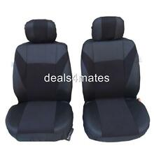 RENAULT MASTER TRAFIC SEAT COVERS BLACK FABRIC 1+1