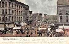 Williamsport Pennsylvania Market Day Historic Bldgs Antique Postcard K43724
