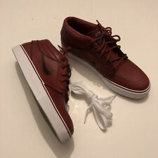 Nike Zoom Stefan Janoski Mid UK 8 US 9 Burgundy