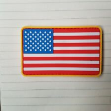 THE UNITED STATES AMERICAN FLAG USA U.S. ARMY MORALE PVC RUBBER HOOK PATCH ^03