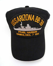 USS Arizona BB 39 Baseball Cap - Black - Hawaii