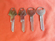 4 NEW DODGE PLYMOUTH CHRYSLER PENTASTAR LOGO KEY BLANKS 1969 - 1986