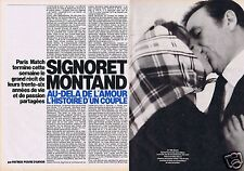 Coupure de presse Clipping 1985 Simone Signoret & Yves Montand  (4 pages)