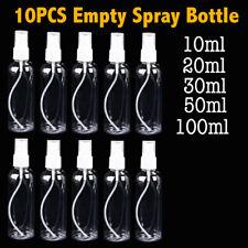 10X 30/50/100ML Clear Plastic Perfume Atomizer Empty Spray Bottle Beauty Travel