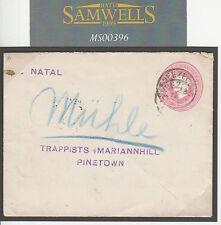M00396 1904 NATAL * umzimkulu * CARTOLERIA postale * Poa / 51 * trappista missionari