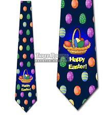 Easter Basket Navy Neckties Mens Holiday Easter Eggs Tie NWT