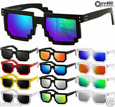 CPU 8 Bit Pixel Square  Pixelated Geek Novlety Sunglasses Vintage