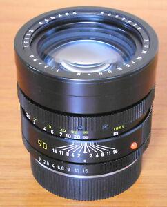Leitz Summicron R 90mm f/2 Lens Leica R Leicaflex 3 cam Boxed Leitz Canada caps