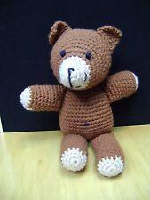 "Vintage hand Crocheted Teddy Bear  Brown 17"""