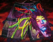Vintage Jimi Hendrix Purple Haze Lp Art Dragonfly Swim Suit Surf Board Shorts 32