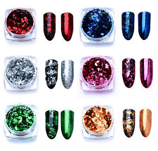 New Pot Nail Art Decoration Powder Glitter Flakes, Colour Choice, Free p&p, UK
