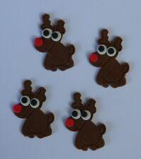 12 edible CHRISTMAS REINDEER RUDOLPH RUDOLF cupcake cake topper decoration XMAS
