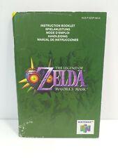The Legend Of Zelda Majora's Mask Instructions Manual Only Nintendo 64 N64