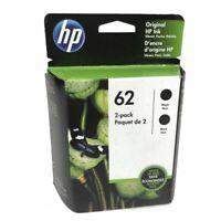 Original New HP 62 Black Ink Cartridges Twin Pack Exp October 2020 New Sealed