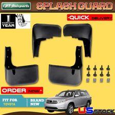 Top 4x Front + Rear Splash Guard Mud Flaps for Toyota Highlander 2012-2014 2015