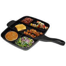 "Master Pan Non-Stick Divided Grill/Fry/Oven Meal Skillet, 15"","