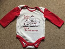 Baby Its Cold Outside Long Sleeve Vest From Matalan 6-9 Months